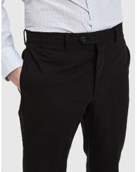 Officine Generale - Paul Linen Pant In Black for Men - Lyst