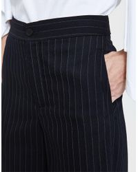 J.W. Anderson Blue Pinstripe Wool Trouser