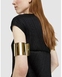 MM6 by Maison Martin Margiela - Metallic Gold Arm Cuffs - Lyst