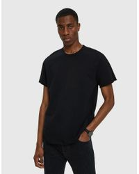 Reigning Champ - Black Terry Cut-off Ss Crew for Men - Lyst