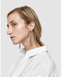 Pamela Love - Metallic Cassini Brass Drop Earrings - Lyst