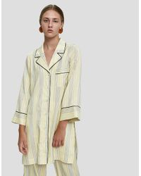 Ganni - Multicolor Bergamot Silk Long Shirt - Lyst