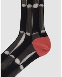 Hansel From Basel - Chucks Tulle Sheer Crew Sock In Black - Lyst