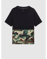 Neil Barrett Green Blackbarrett Camo Blocking Jersey T-shirt for men