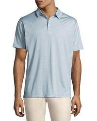 Peter Millar - Blue Collection Cote D'azur Striped Silk-cotton Polo Shirt for Men - Lyst