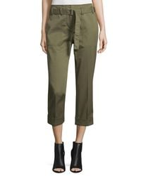 3.1 Phillip Lim - Green Cropped Belted Utility Pants - Lyst