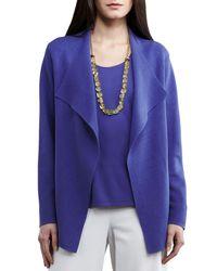 Eileen Fisher - Blue Silk-interlock Cascade Jacket - Lyst