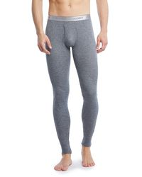 2xist - Gray Sport Tech Long John Pants for Men - Lyst