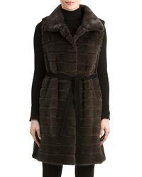 Gorski - Black Mink Fur Vest With Suede Belt - Lyst