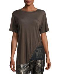 Koral - Black Atomic Jersey & Mesh Athletic Tunic - Lyst