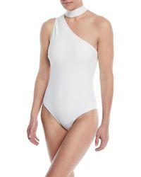 Zimmermann White Jaya Tie-neck One-piece Swimsuit