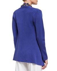 Eileen Fisher | Blue Open Interlock Jacket | Lyst