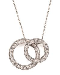 Roberto Coin | White Two-circle Pendant Necklace | Lyst