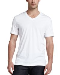 James Perse   White V-neck Cotton T-shirt for Men   Lyst