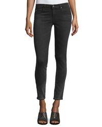 AG Jeans - Black Cropped Denim Leggings - Lyst