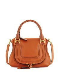 Chloé - Gray Marcie Large Leather Satchel Tote Bag - Lyst