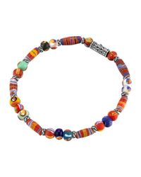 John Hardy | Multicolor Classic Chain Silver Bracelet With Borneo Beads | Lyst