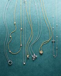 Roberto Coin - Metallic 18k White Xs Diamond Circle Pendant Necklace - Lyst