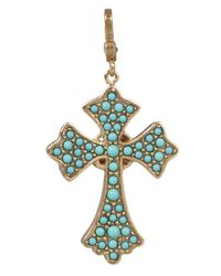 Jay Strongwater | Multicolor Cross Pendant | Lyst