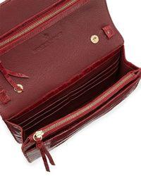 Nancy Gonzalez - Red Crocodile Clutch Bag With Strap - Lyst