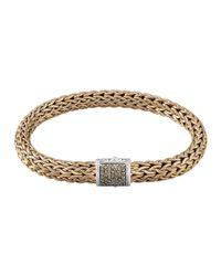 John Hardy - Metallic Men's Classic Chain Diamond Pave Chain Bracelet for Men - Lyst