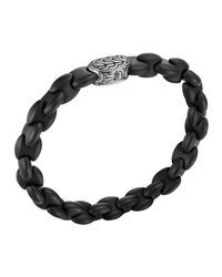 John Hardy | Men's Batu Classic Chain Silver And Black Agate Bracelet for Men | Lyst