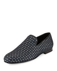 Jimmy Choo - Black Sloane Glittered Fabric Loafer for Men - Lyst