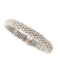 Lagos | Metallic Caviar Oval Bracelet | Lyst