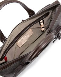Tumi - Brown Regis Coated Slim Zip Briefcase for Men - Lyst