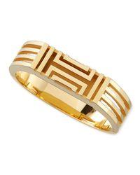 Tory Burch Metallic Gold-plated Fitbit-case Bracelet