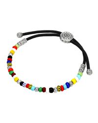 John Hardy | Multicolored Silver Round Beaded Bracelet | Lyst