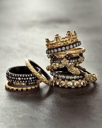 Armenta | Metallic 18k Gold & Midnight Diamond Crown Ring for Men | Lyst