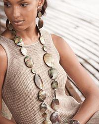 Viktoria Hayman | Black Triple Drop Oval Shell Earrings | Lyst