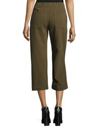 Rag & Bone - Green Denny Cropped Wide-leg Pants - Lyst