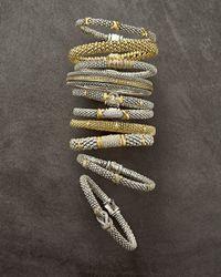 Lagos Metallic Embrace Silver & 18k Diamond Caviar Bracelet