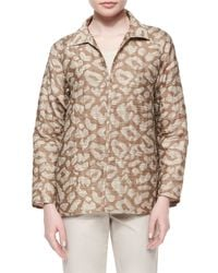 Lafayette 148 New York - Multicolor Zineb Animal-print Topper Jacket - Lyst