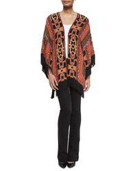 Etro - Red Geometric Silk Fringe Jacket - Lyst
