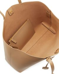 Saint Laurent - Natural Large Shopping Tota Bag - Lyst