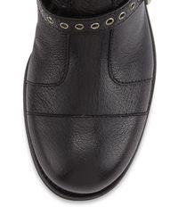 Jimmy Choo - Black Dover Triple Buckle Flat Boot - Lyst