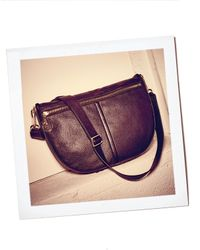 Elizabeth and James Natural Scott Cross-body Leather Hobo