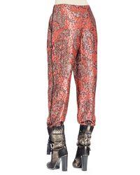 Lanvin - Multicolor Metallic-print Pajama Pants - Lyst