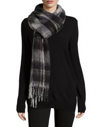Marc By Marc Jacobs | Black Blanket Plaid Knit Scarf | Lyst