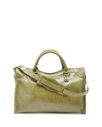 Balenciaga - Green Classic City Crinkle Calf Bag - Lyst