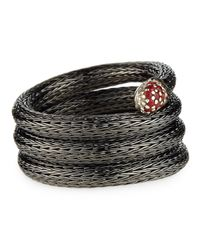 John Hardy - Lava Coil Ring With Red Sapphire - Lyst