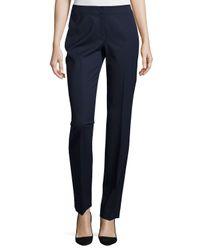 Lafayette 148 New York | Blue Barrow Straight-leg Pants | Lyst