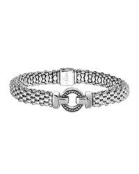 Lagos | Metallic Enso Silver Caviar Rope Bracelet | Lyst