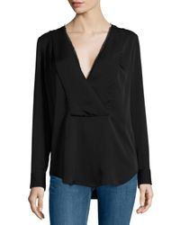 Theory - Black Ramalla Reversible Long-sleeve Top - Lyst