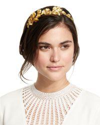 Jennifer Behr - Metallic Flower Petal Headband - Lyst