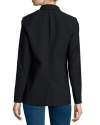 Veronica Beard Black Long & Lean Blazer Jacket