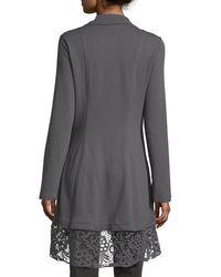 XCVI   Gray Paisley Crochet-Paneled Jacket   Lyst